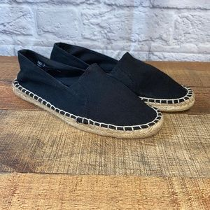 Report George Black Espadrille Slip On Shoe